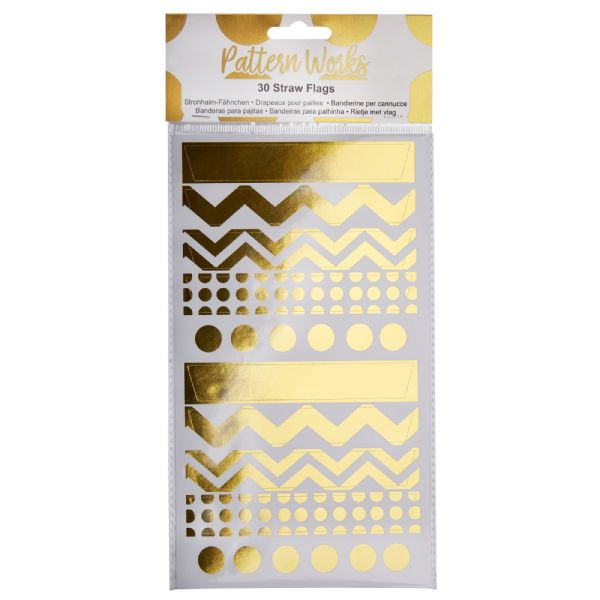Pattern Works Gold Straw Flags (30)